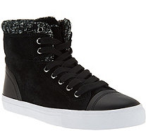 Isaac Mizrahi Live! SOHO Sneakers with Sweater Knit Detail - A284685