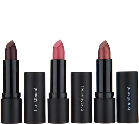bareMinerals Statement Luxe-Shine Lipstick Trio