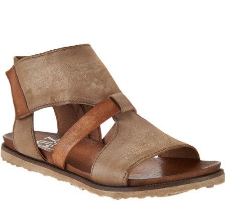 Miz Mooz Leather Cut Out Sandals Tamsyn Page 1 Qvc Com