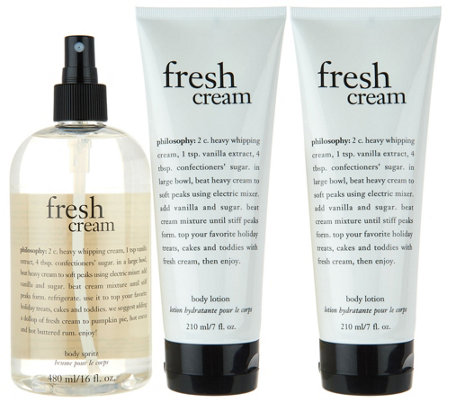 philosophy super-size body spritz and duo of body lotion