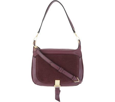 4ea59c309033 Vera Bradley Leather   Suede Carson Shoulder Bag - Page 1 — QVC.com