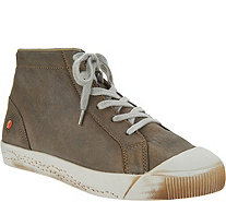 Softinos by FLY London Leather High Top Sneakers - Kip - A298285