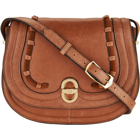 """As Is"" Aimee Kestenberg Vintage Leather Saddle Crossbody"