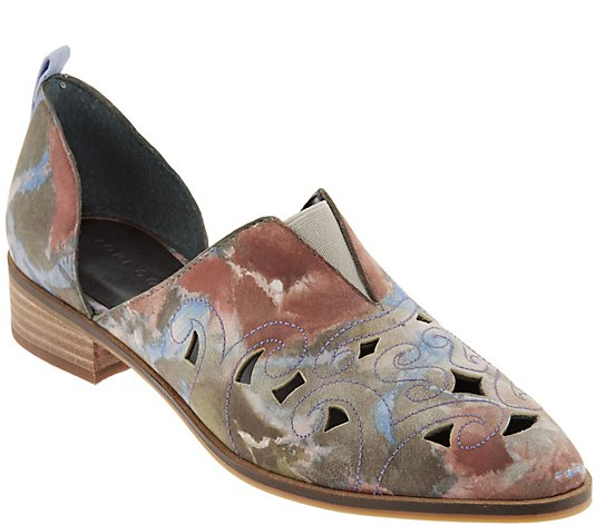 Lori Goldstein Collection Perforated Western Slip-on Shoe