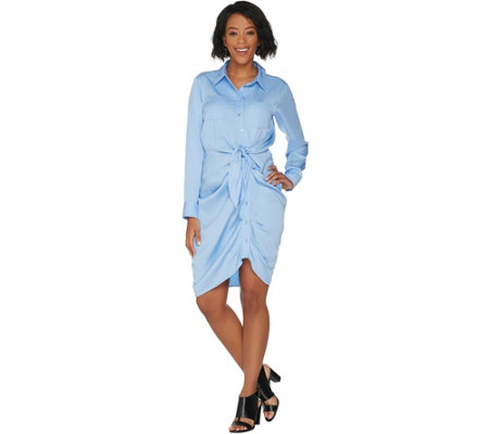 Laurie Felt Tied Front Blouse Dress