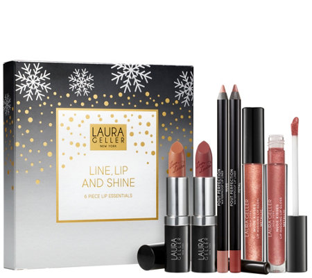 Laura Geller Line Lip Shine 6 Piece Lip Essentials