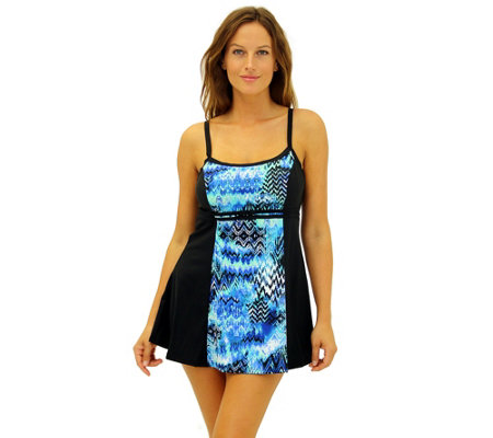 Fit 4 Ur C's Scattered Elements Blocked Double Bow Dress
