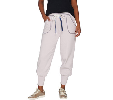 """As Is"" Peace Love World Saltwashed Fleece Pull On Jogger Pants"
