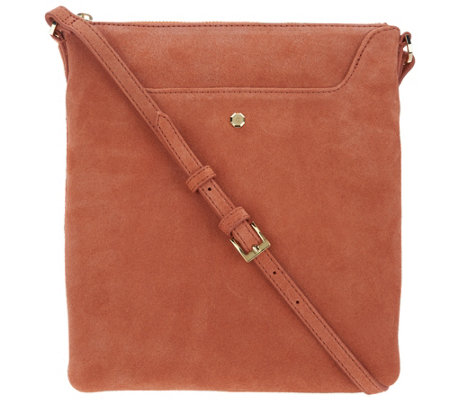 """As Is"" G.I.L.I Suede Scoop Crossbody"