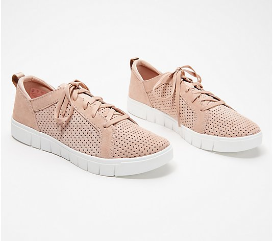 Ryka Perforated Suede Lace-Up Sneakers - Haiku