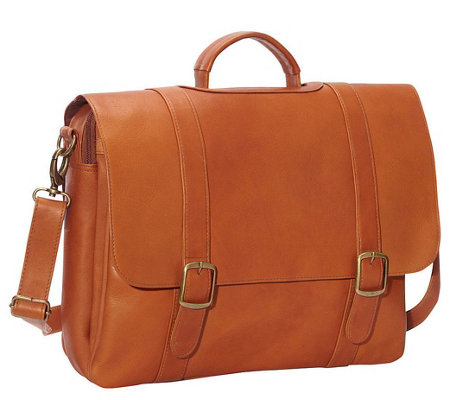 Le Donne Leather Classic Laptop Briefcase