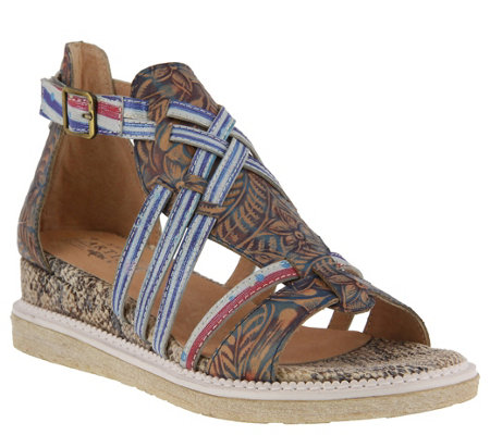 L'Artiste by Spring Step Leather Sandals - Tashina