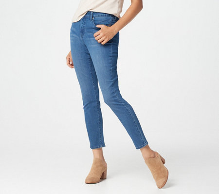 Isaac Mizrahi Live! Tall TRUE DENIM Skinny Ankle Jeans