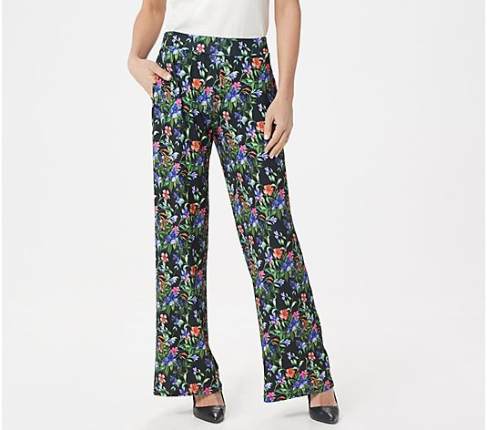 """As Is"" BROOKE SHIELDS Timeless Tall Flat Front Wide-Leg Pants"