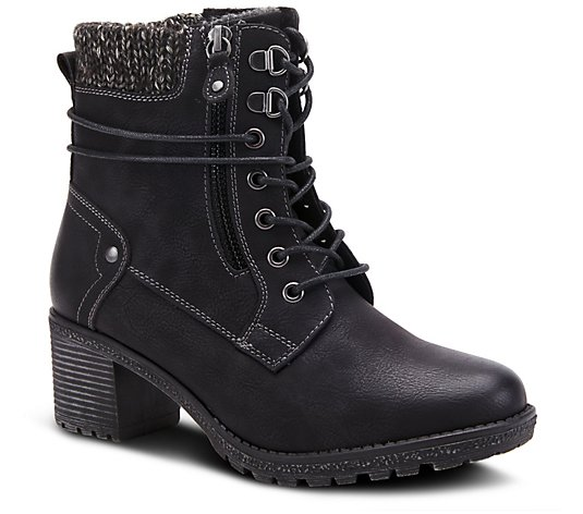 Spring Step Lace Up Mid Boots - Hellewn