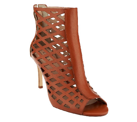 G.I.L.I. Perforated Leather Ankle Boots - Courtney