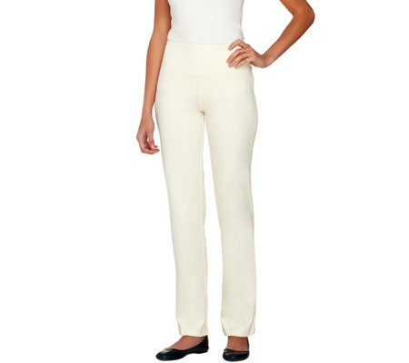 Women with Control Slim Leg Pants Tummy Control White PXL NEW A225790