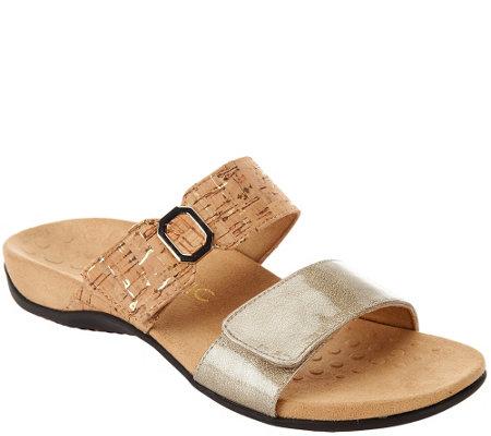 af50d6b5f5b2 Vionic Orthotic Double Strap Slide Sandals - Camila - Page 1 — QVC.com