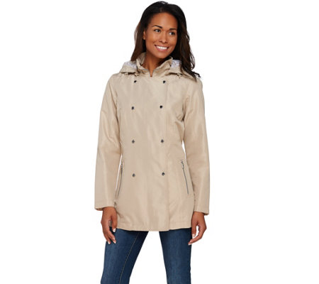 Liz Claiborne New York Double Breasted Trench Coat