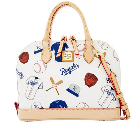 Dooney & Bourke MLB Royals Zip Zip Satchel