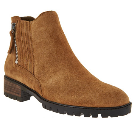Marc Fisher Leather or Suede Side Zip Ankle Boots - Vortex