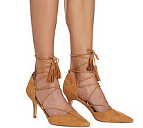 Marc Fisher Suede Pointed Toe Lace-Up Pumps - Tamya - A287486