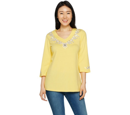 Belle by Kim Gravel TripleLuxe Embroidered Tunic