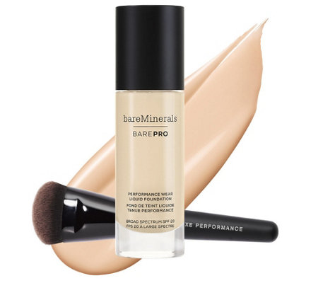 bareMinerals barePro Liquid Foundation w/ Luxe Brush