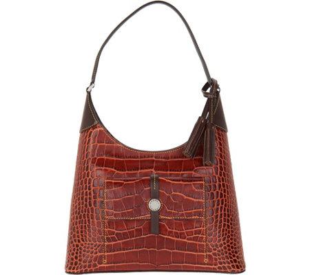 Dooney   Bourke Savannah Croco Embossed Leather Hobo Handbag - Page ... 3daf73294508d