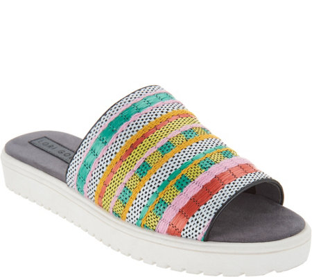 Lori Goldstein Collection Slip On Woven Sandal