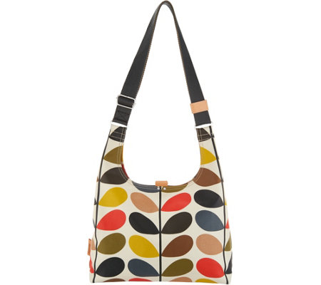 Orla Kiely Coated Canvas Midi Sling Bag