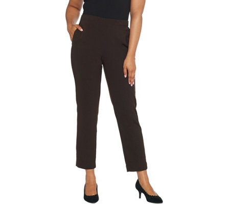 Susan Graver Regular Milano Knit Pull On Pants With Pockets