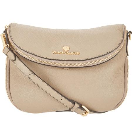 As Is Vince Camuto Leather Crossbody Handbag Rizo