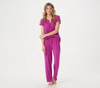 3c99a64487 Carole Hochman Petite Rayon Spandex Satin Trim Pajama Set - A346786