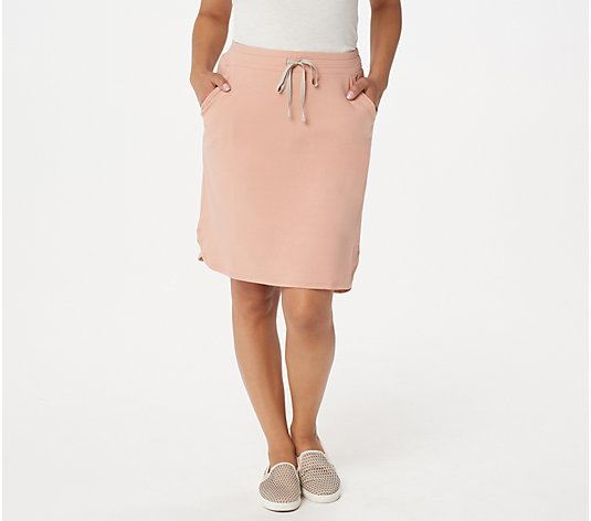 LOGO Lounge by Lori Goldstein Cotton French Terry Skirt