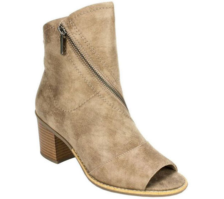 White Mountain Open Toe Booties - Dara