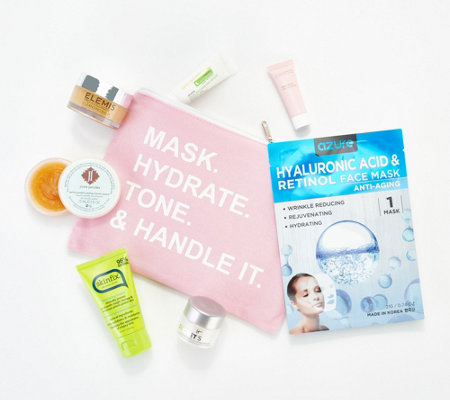 QVC Beauty 7-Pc Skincare Sample Collection with Bag