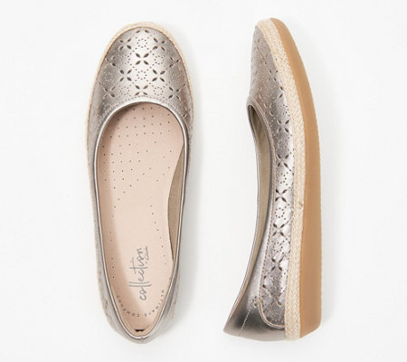 """As Is"" Clarks Collection Perforated Slip-On Flats - Danelly Art"