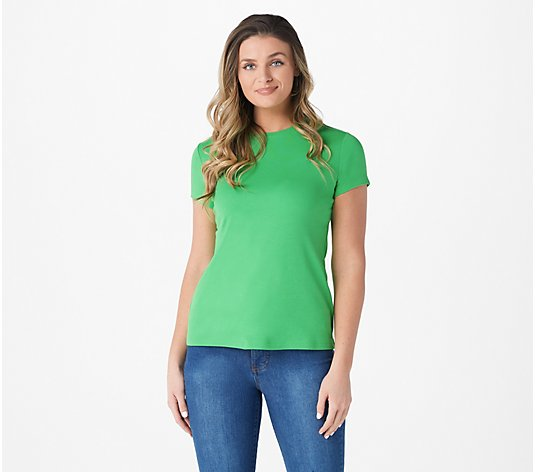 Isaac Mizrahi Live! Essentials Pima Cotton Favorite T-Shirt