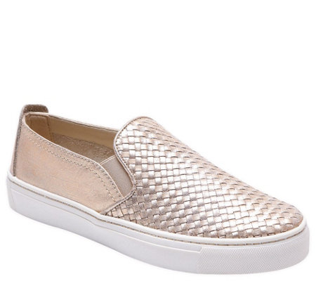 The Flexx Slip On Leather Sneakers - Sneak Name