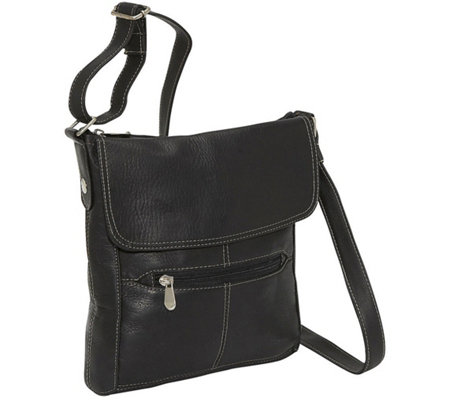Le Donne Leather Front Flap Crossbody Bag