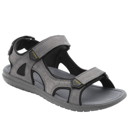 Vionic Men's Nubuck Adjustable Sandal - Neil