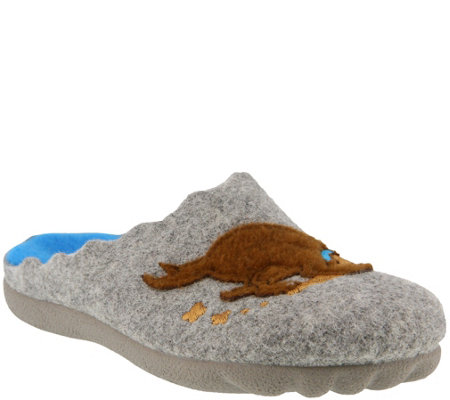 Flexus by Spring Step Wool Slippers - Digger