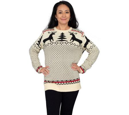 Ugly Sweater Company Beige Reindeer Sweatshirt