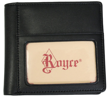 Royce New York Leather Double Id Hipster Wallet