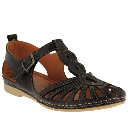 Spring Step Leather Mary Jane Shoes - Makeda