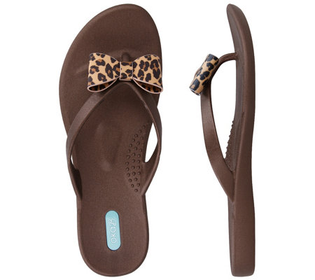 Oka B Dainty Bow Thong Sandals Cassina