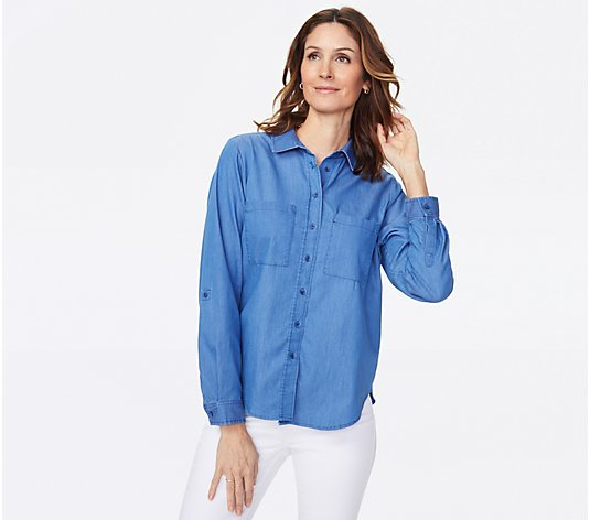 NYDJ Denim Utility Shirt