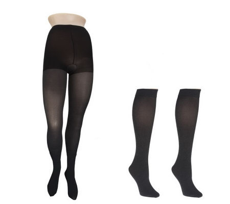 Legacy Legwear Heavenly Heather Tight & Two Pair of Knee High Set