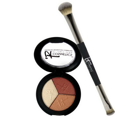 "IT Cosmetics Anti-Aging Shadow Trio & ""No Tug"" Shadow Brush"